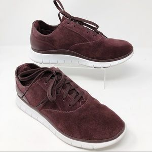 Vionic | Taylor Burgundy Suede Sneakers